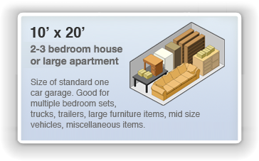 Picture of 10 by 20 Unit