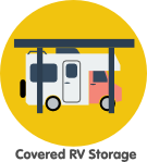 covered RV storage space