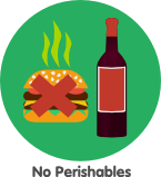 no perishbales in wine storage