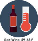 red wine storage temperature
