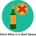 store wine in the dark