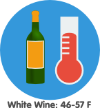 white wine storage temperature