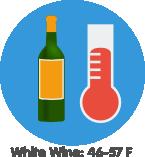 white wine storage temperature
