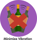 wine storage vibrations